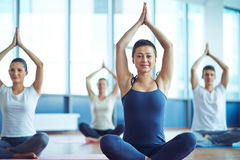 Happy yoga Stock Photos