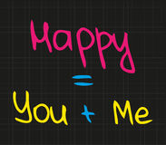 Happy you and me Stock Images