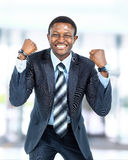 Happy young african american businessman Royalty Free Stock Photos