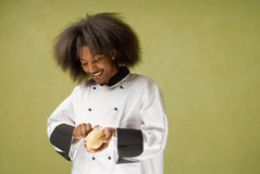Happy Young African American Chef Stock Photos