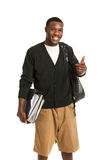 Happy Young African American College Student Stock Photography
