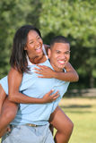 Happy Young African American Couple Outdoor Stock Image