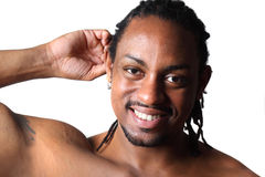 Happy young African American guy Stock Image