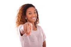 Happy young african american isolated on white background - Blac Royalty Free Stock Photo