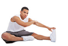 Happy Young African American Male Workout Royalty Free Stock Photography