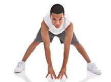 Happy Young African American Male Workout Stock Image