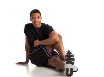 Happy Young African American Male Workout Stock Photography