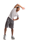 Happy Young African American Male Workout Stock Photo