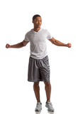 Happy Young African American Male Workout Stock Photos