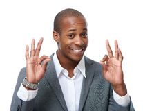 Happy young African-American man. Stock Photos