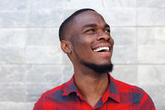 Happy young african american man laughing Royalty Free Stock Images