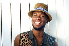 Happy young african american man smiling Stock Image