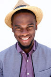 Happy young african guy wearing hat Royalty Free Stock Image