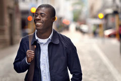 Happy young african man Royalty Free Stock Photography