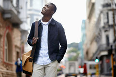 Happy young african man Stock Images