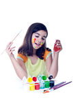 Happy young artist Stock Images