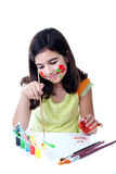 Happy young artist Royalty Free Stock Photography