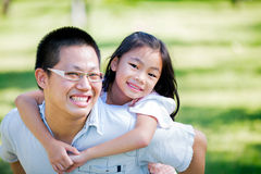 Happy young asia father Royalty Free Stock Photos