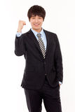 Happy young Asian business man Royalty Free Stock Images