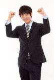Happy young Asian business man Stock Image