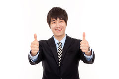 Happy young Asian business man Stock Photo