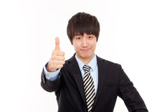Happy young Asian business man Stock Photos