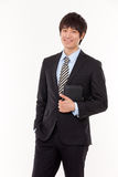 Happy young Asian business man Royalty Free Stock Photography