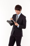 Happy young Asian business man Royalty Free Stock Photos
