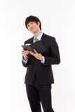 Happy young Asian business man Royalty Free Stock Photo