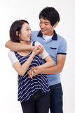 Happy young Asian couple Royalty Free Stock Photo