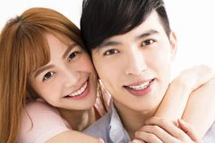 happy young asian couple face Royalty Free Stock Image