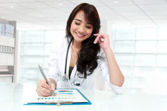 Happy young asian doctor Royalty Free Stock Images