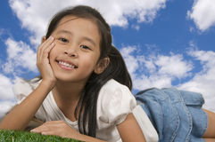 Happy young Asian girl Stock Photography