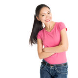 Happy young Asian girl Royalty Free Stock Images