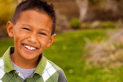Happy young Asian kid smiling and laughing. Stock Image
