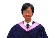 Happy, young Asian student graduate Stock Photos