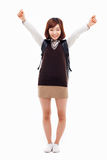 Happy young asian student woman. Stock Photos