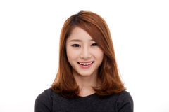 Happy young Asian woman close up shot. Stock Photography