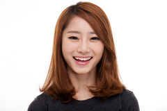 Happy young Asian woman close up shot. Royalty Free Stock Images