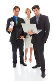 Happy young attractive business team Royalty Free Stock Image