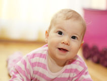 Happy young baby Royalty Free Stock Photo