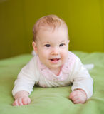Happy young baby Royalty Free Stock Images
