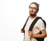 Happy young bearded man Stock Photo