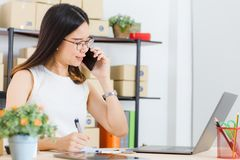 Asian business lady at office royalty free stock photos