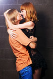 Happy young beautiful couple Stock Images