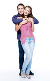 Happy young beautiful smiling couple Royalty Free Stock Photography