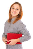 Happy young beautiful student holding books Royalty Free Stock Photography