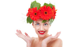 Happy young beautiful woman Stock Photography
