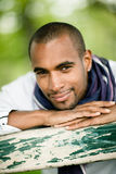 Happy young black man Royalty Free Stock Image