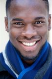 Happy young black man smiling Royalty Free Stock Photography